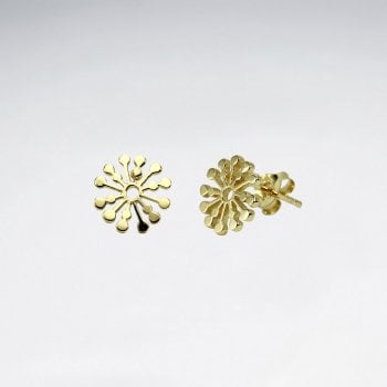 Snowflake Splat Sterling Silver Stud Earrings