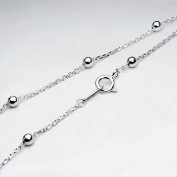 Soldered & Ball Silver Chain