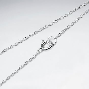 Soldered Diamond Cut 925 Silver Chain