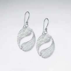Sophisticated Open Oval Swirl Dangle Drop Hook Earrings