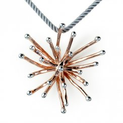 Spike Ball Pendant in Sterling Silver