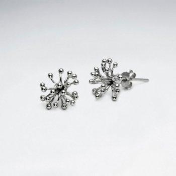 Spiky Sterling Silver Stud Earrings