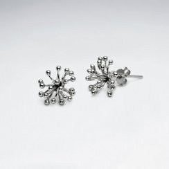 Spiky Sterling Silver Stud Earrings