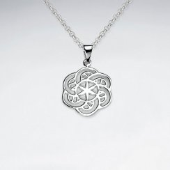 Spiral Flower of life Silver Pendant