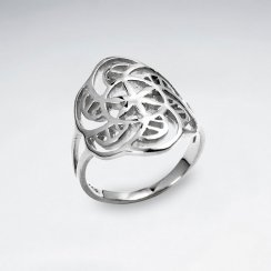 Spiral Flower Of life Silver Ring
