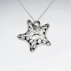 Spotted Starfish Inspired Design Silver Pendant