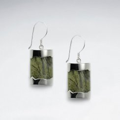 Square Silver Earring With Olean Eyekate