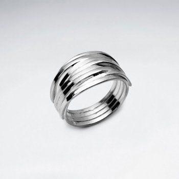 Stacked Illusions Sterling Silver Ring