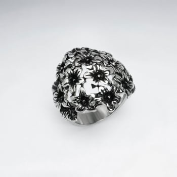 Stainless Steel Bouquet Ring