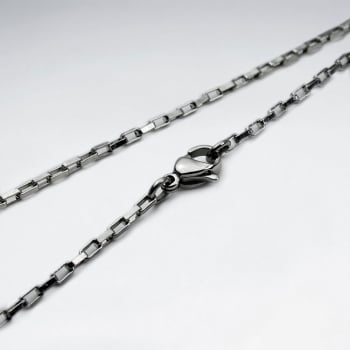 Stainless Steel Box Link Necklace Pack Of 5 Pieces