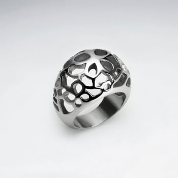Stainless Steel Bubbled Cutout Ring