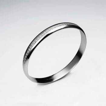 Stainless Steel Crystal Lined Bangle