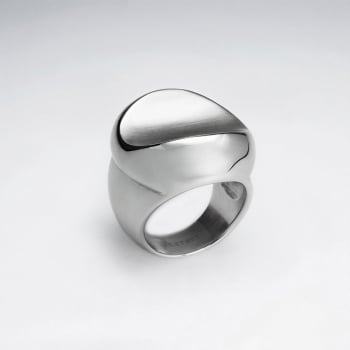 Stainless Steel Curved Saddle Ring