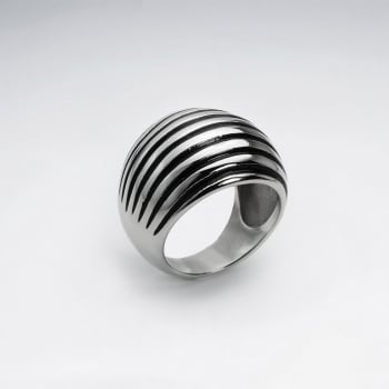Stainless Steel Domed Groove Ring