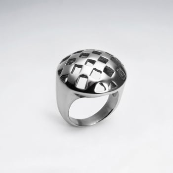 Stainless Steel Domes Checkered Cutout Ring