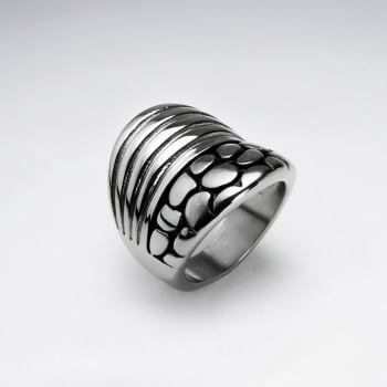 Stainless Steel Double Grooved Ring