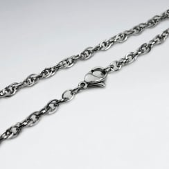 Stainless Steel Double Link Chain Necklace Pack Of 5 Pieces