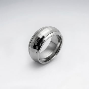 Stainless Steel Faceted Wrap Ring
