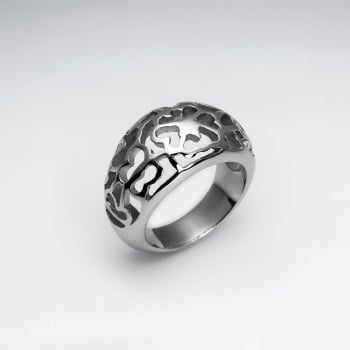 Stainless Steel Filigree Ring