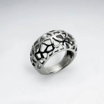 Stainless Steel Geometric Cutout Ring