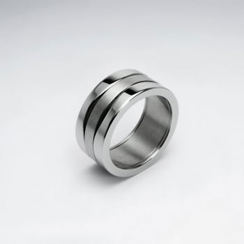 Stainless Steel Grooved Line Ring