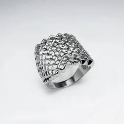 Stainless Steel Lattice Cutout Ring