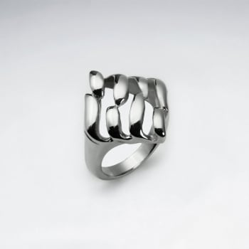 Stainless Steel Modern Sophistication Statement Ring