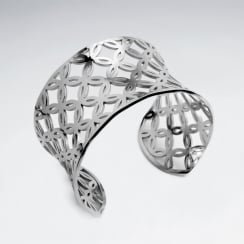 Stainless Steel Openwork   Star Burst Bangle