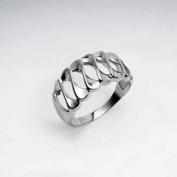 Stainless Steel Openwork Twist Ring