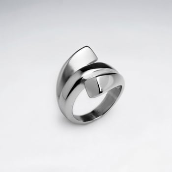 Stainless Steel Sculpture Art Wrap Ring