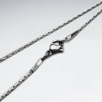 Stainless Steel Single Round Cable Chain Necklace Pack Of 5 Pieces