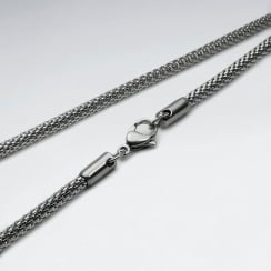 Stainless Steel Sleek Cord Chain Necklace Pack Of 5 Pieces