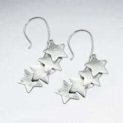 Star Silhouette Sterling Silver Earrings