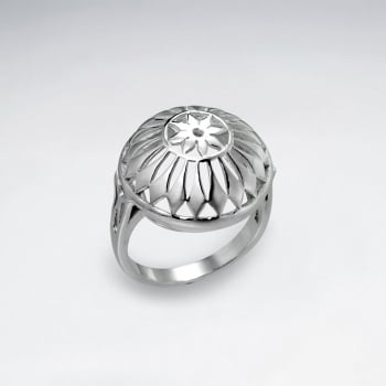 sterling Silver And Boasts A Beautiful Puffed Design Ring