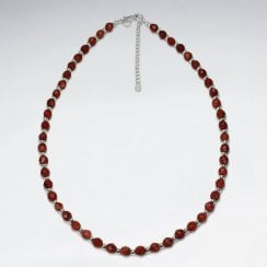 Sterling Silver and Gemstone Bead Necklace
