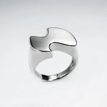 "Sterling Silver ""Anvil"" Ring"