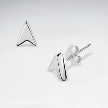 Sterling Silver Arrow Point Stud Earrings