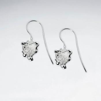Sterling Silver Autumn Leaves  Earrings