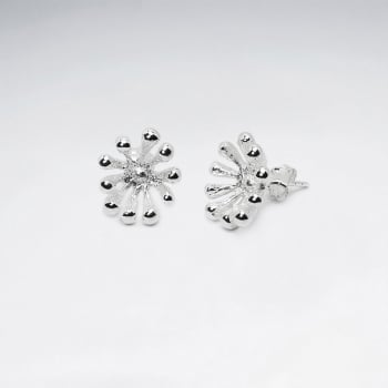Sterling Silver Ball Spike Stud Earrings
