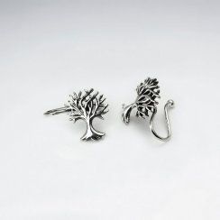 Sterling Silver Beautiful Detailed Tree Ear cuffs