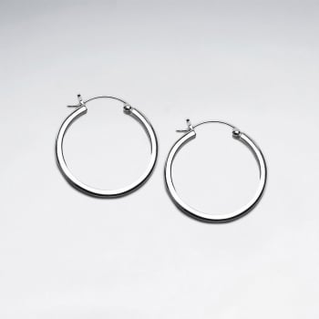 Sterling Silver Beauty Standards Hoop Earrings