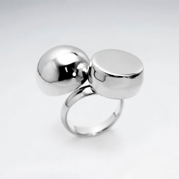 Sterling Silver Big Bold Polished Design Ring