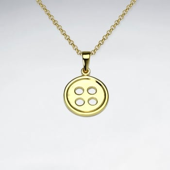 Sterling Silver Button Pendant