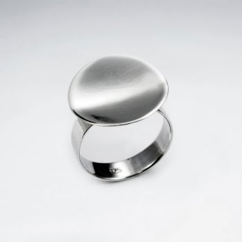 Sterling Silver Circle Disc Design Ring
