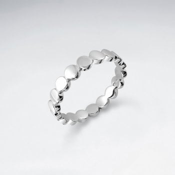 Sterling Silver Circles Silhouette Ring