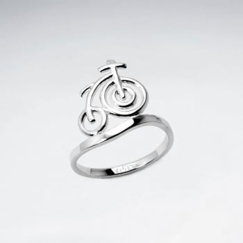 Sterling Silver Classic Cruiser Bicycle Ring