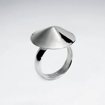 Sterling Silver Cone Design Ring