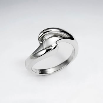 Sterling Silver Contemporary Design  Ring