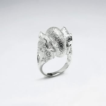 Sterling Silver Contemporary With CZ Ring