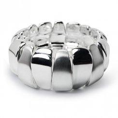 Sterling Silver Corona Petal Bangle